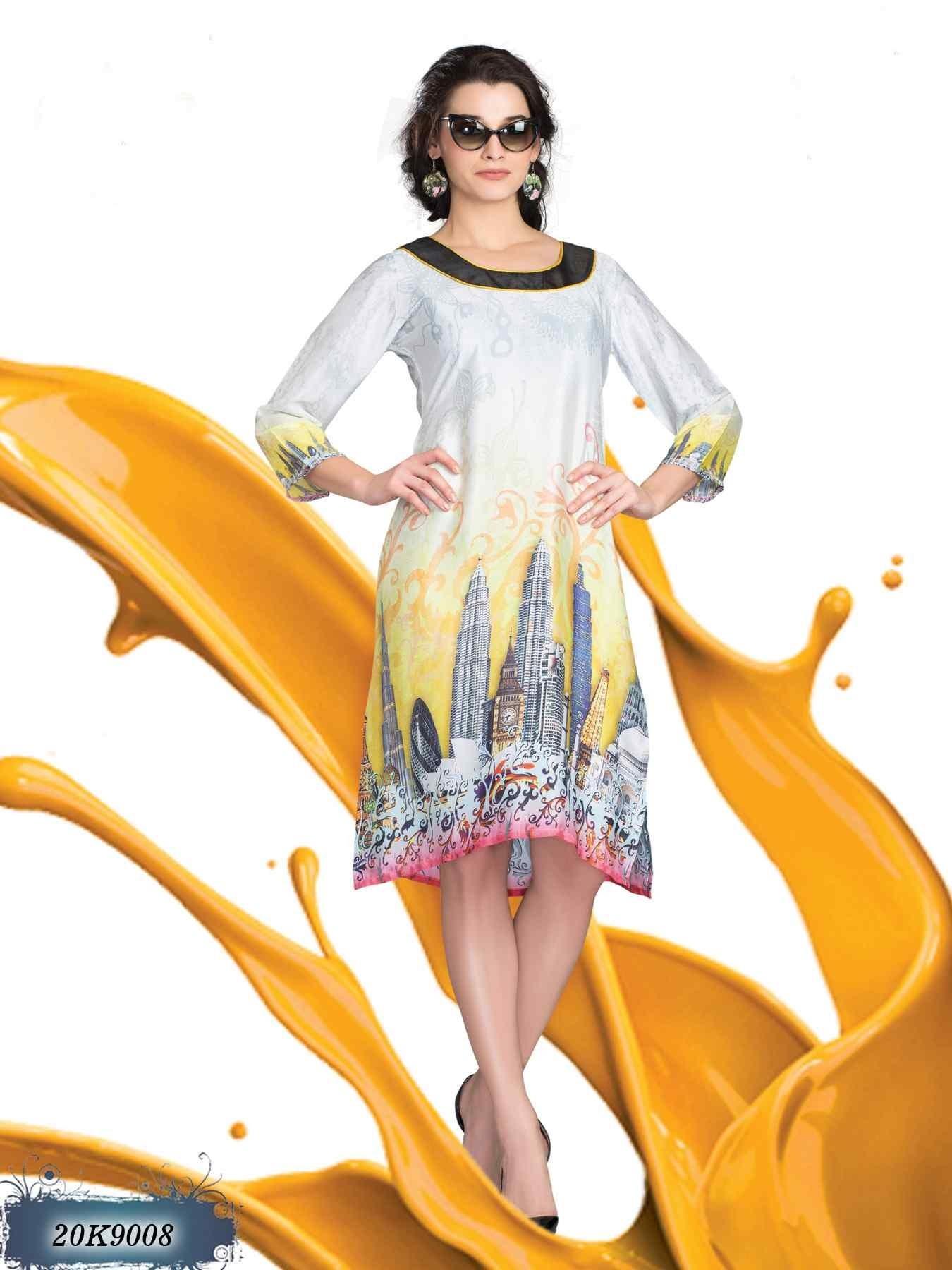 8fde4f22ba9 Buy Kurtis Online for Cheap - A New Look Women s Georgette Brown Western  Kurthi