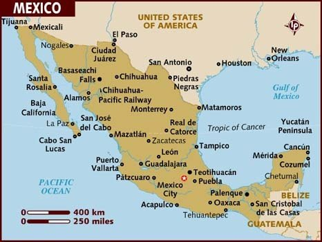 heres a map of mexico for reference