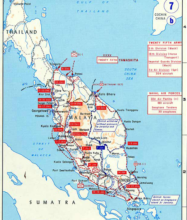How did japan conquer the whole of malaya and reach singapore operation krohcol publicscrutiny Choice Image