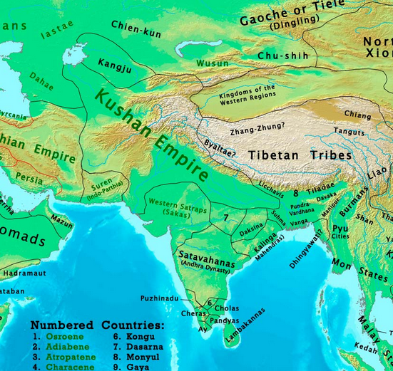 What was the map of india 1000 years ago quora the indo parthian and indo synthian era 1 ad gumiabroncs Choice Image