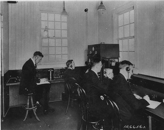 What city was the first commercial radio station located in