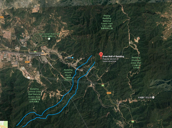 How to visualize the great wall of china using google earth quora as you can see if you zoom out to show beijing the great wall of badaling is already totally invisible gumiabroncs Image collections