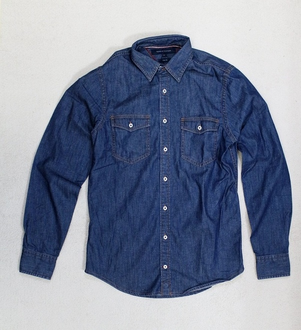 ea26eea262 Wear a denim shirt. guys this denim shirt look amazing in summer you can  wear it with your different color pant or jeans. you should keep in mind  denim on ...