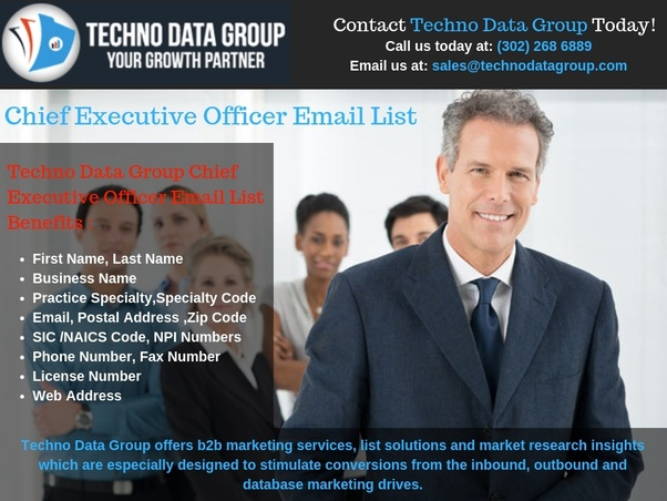 Where can I find best CEO email list in USA? - Quora