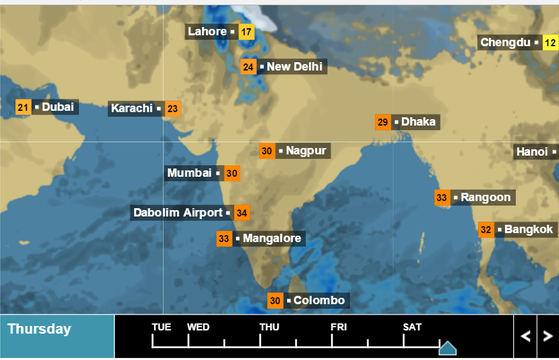 Bbc Weather Map India Why does the BBC give more importance to Mangalore than Indian