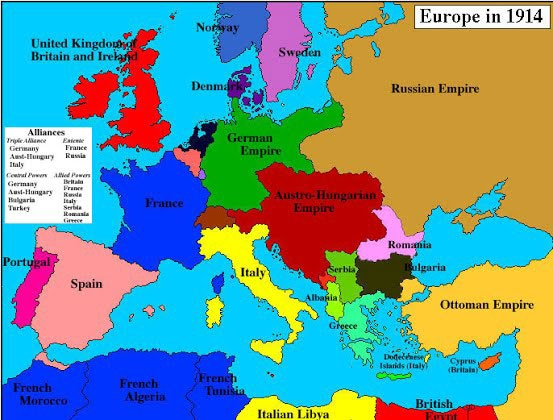What did Europe's map look like after WW1?   Quora