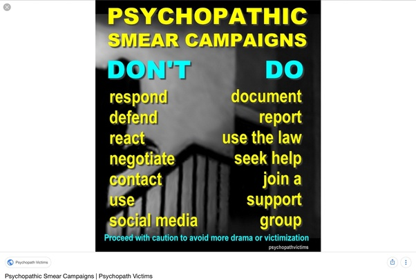Victims of psychopaths support groups
