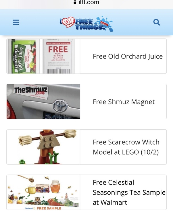Sites Giving Free Samples In India