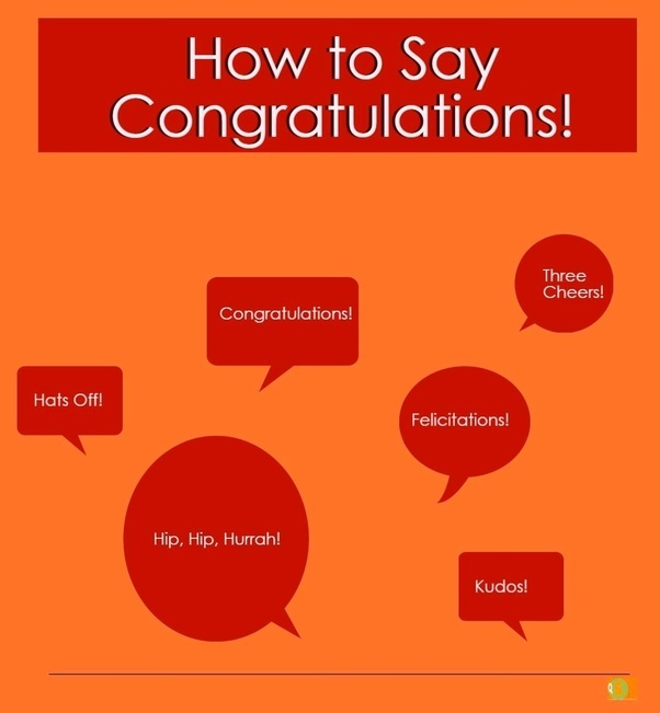 how to say congratulations word for word quora