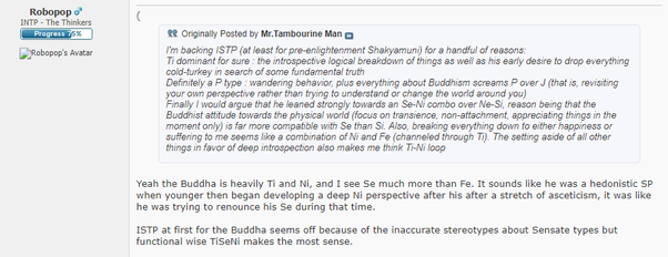 Which MBTI type do you think Buddha was? Was he an INFP or