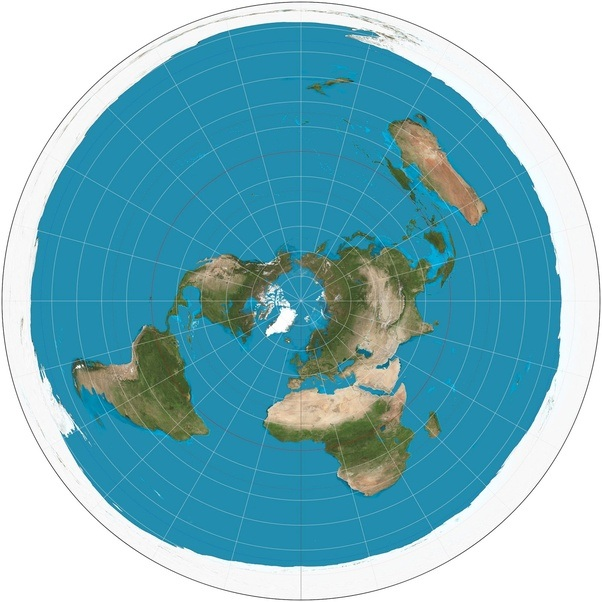 here is what flat earthers think the world looks like