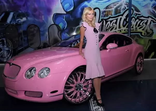 Added A Diamond Encrusted Dashboard To Her Pink Bentley And Bought The Car As Christmas Present For Herself In 2008
