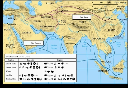 What are the oldest known trade routes between europe and the rest the map below is even older offering a land route through arabia this became open with the domestication of camels flourished 7th century bce 2nd publicscrutiny Image collections