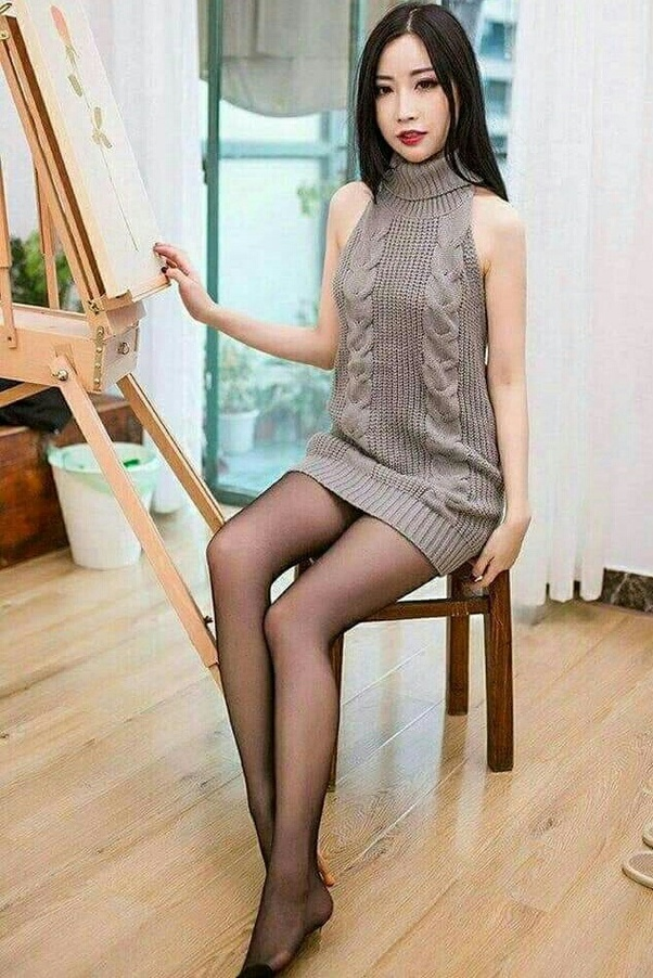 Pantyhose dress pics