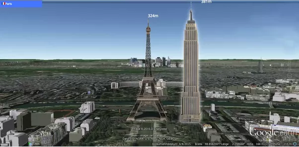how tall is the empire state building how does it compare to other