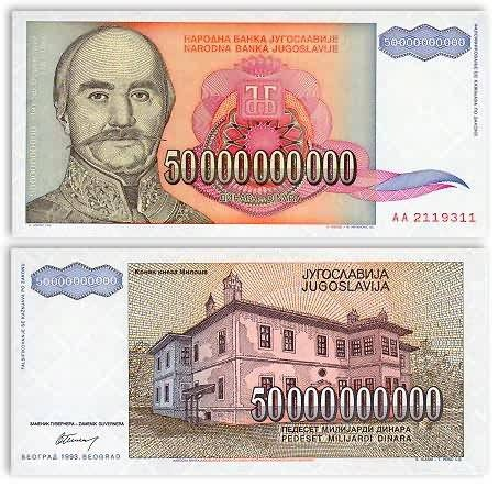 Currently, which country has the highest denomination