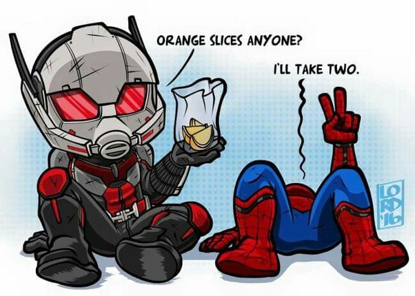 Why Does Ant Man Ask For Orange Slices After He Is Defeated In