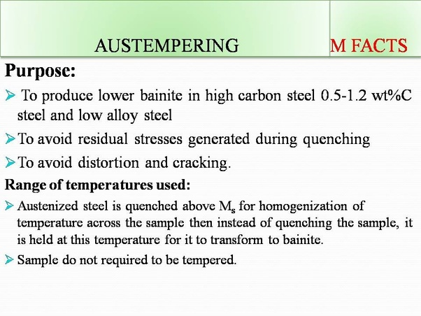 what is austempering