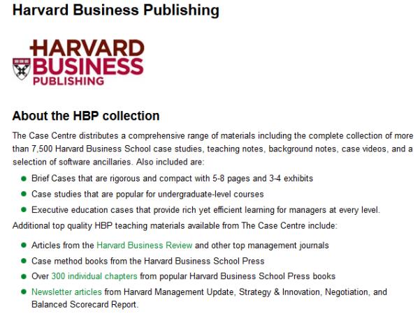 harvard business publishing case studies