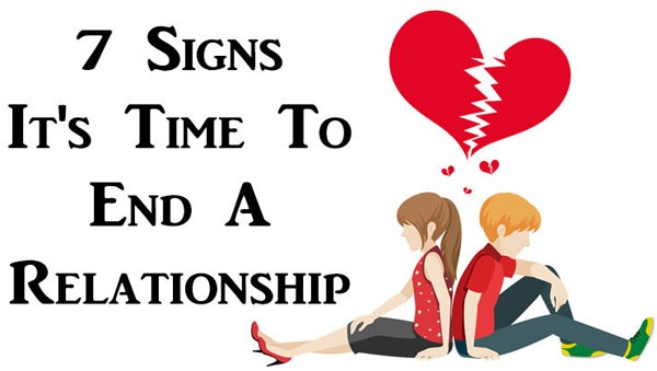 Signs that a relationship is over