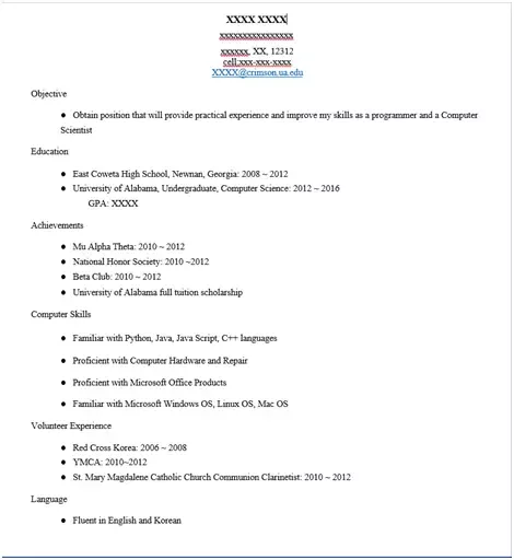 What Should Be The Resume For Electronics And Communication Engineering Fresher?