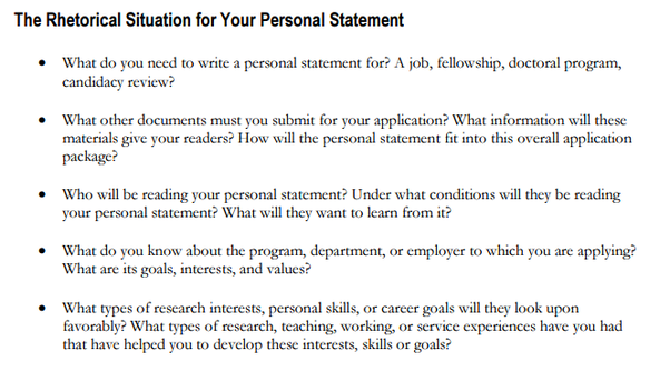 how to start off a personal statement for a job
