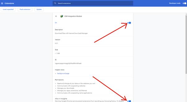 idm 6.31 google chrome extension