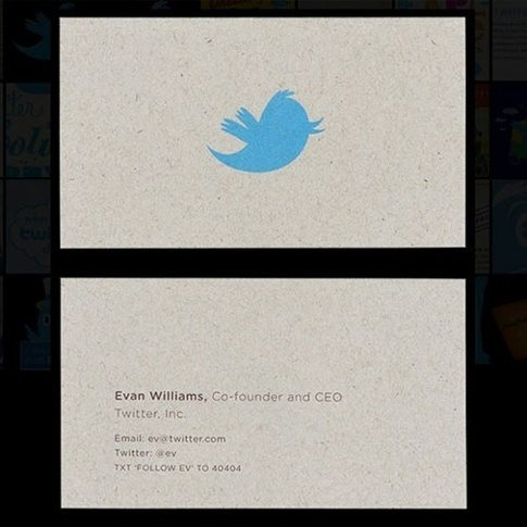 What do some top companies ceos business cards look like quora the business card of twitter co founder evan williams fittingly features the iconic blue bird colourmoves