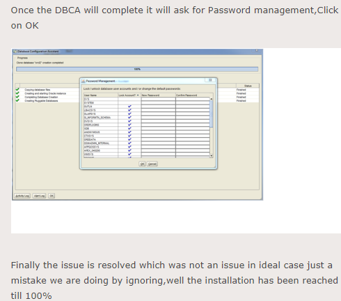 Why does Oracle 12c db installation stuck at 91%? - Quora