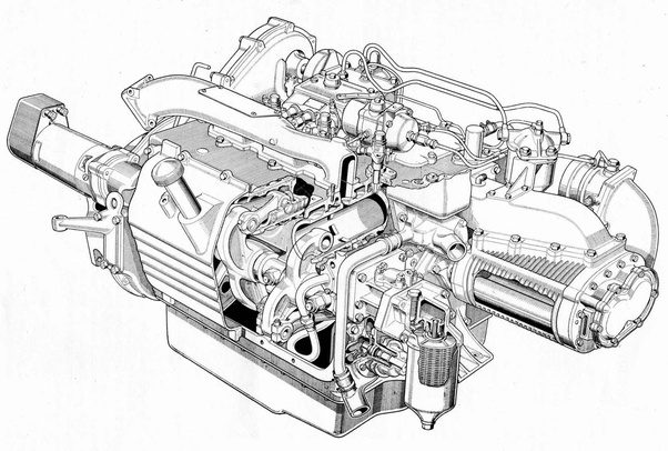 why are opposed-piston engines not used in cars today