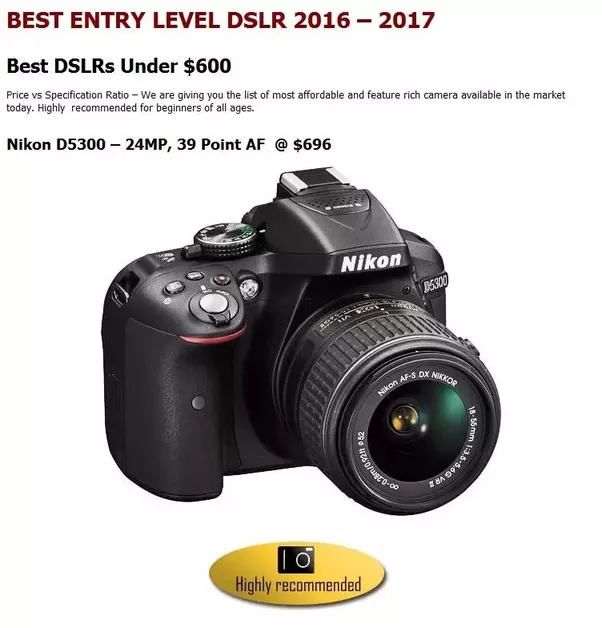 Which Is The Best DSLR Camera Under 50k?
