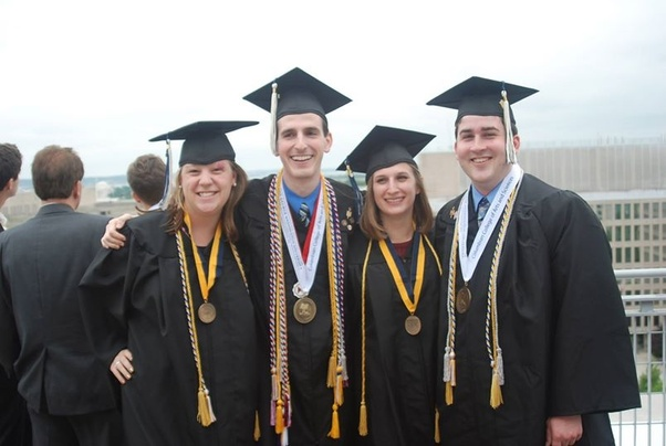 a83454d75b0 Why do some students wear a lot of cords in the US high school graduation  day while others only wear two or three  - Quora