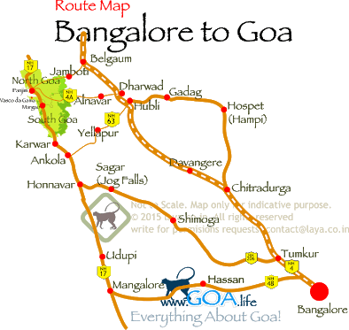 Bangalore To Goa Map How will be the road from Banglore to Goa?   Quora