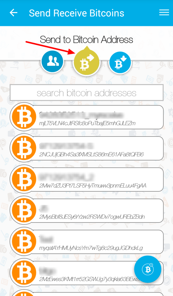 How to move my bitcoin from zebpay to another wallet quora click on the center icon for bitcoin addresses on top select existing bitcoin address from the list or click on the bottom right icon to add a new ccuart Gallery