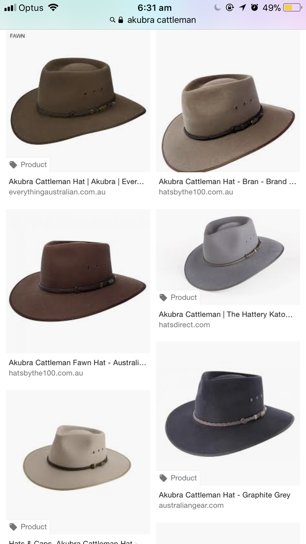Why Do Australians Fold One Side Of Their Hat What S The Hat Called Is It Typically Only Seen In Australia I Ve Seen Movies With Australians Wearing Hats Like That Maybe It S Not