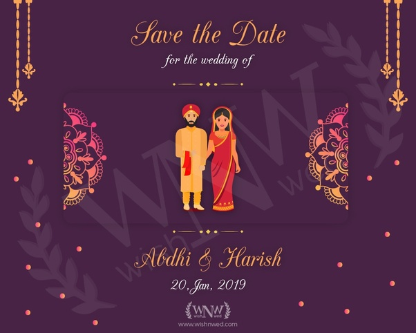 How to make an e-wedding invitation card - Quora