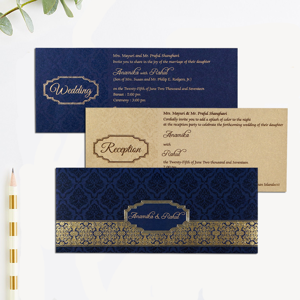 What are some ideas for a wedding card in india quora visit indianweddingcards for the most unique and modern indian theme wedding invitations designs stopboris Choice Image