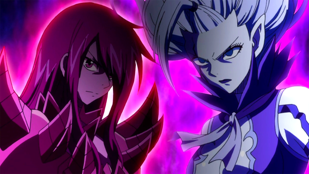 Who Is Stronger Mirajane Struass Or Erza Scarlet In Fairy Tail Quora Brown eye color when using power: mirajane struass or erza scarlet
