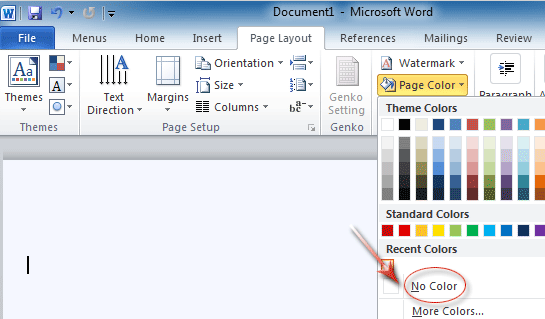 Most Text Colors Set To Automatic Will Revert White When You The Page Color Black