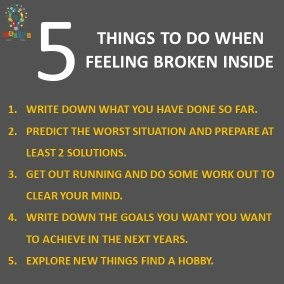 Steps when you are feeling broken down and make you successful