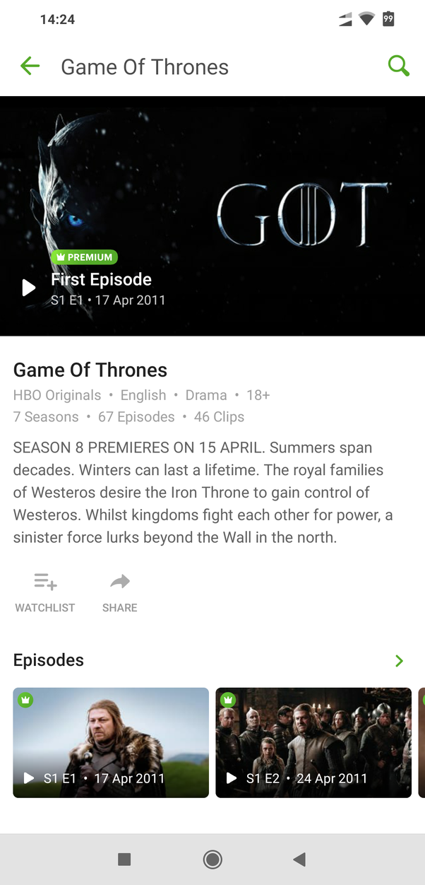 How to watch Game of Thrones season 1 in India - Quora