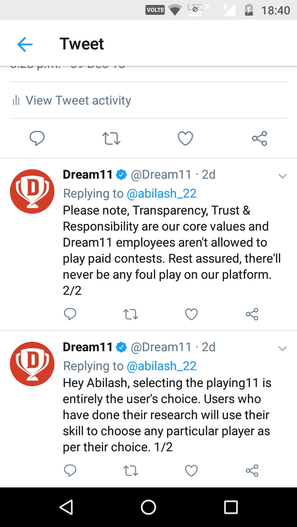 Do Dream11 cheat people in mega contests by forming top teams by