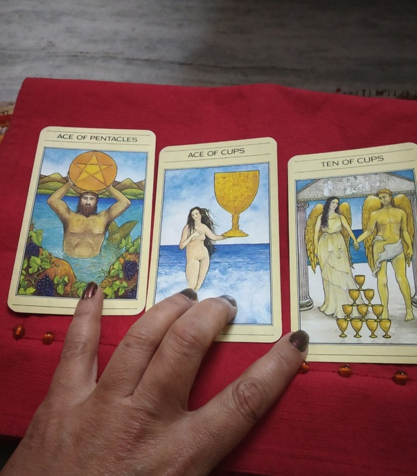 What does getting ace of cups, ace of Pentacles and 10 of