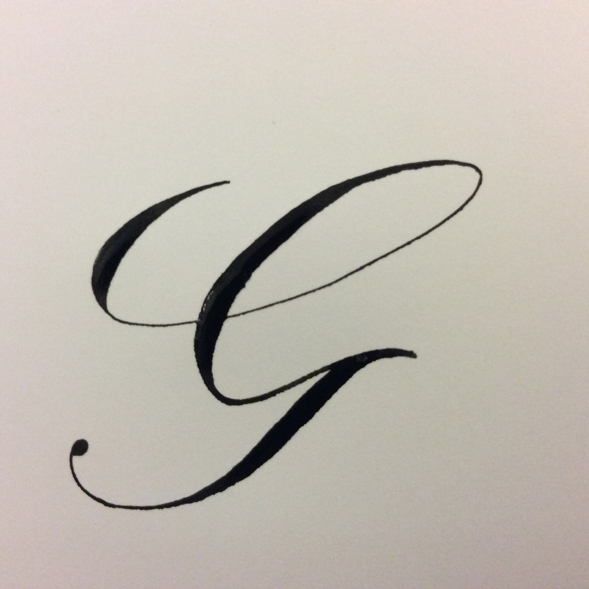 How to write a capital G in cursive - Quora
