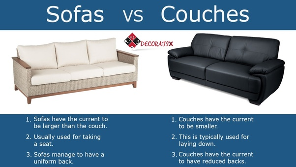 What S The Difference Between A Sofa And Couch Quora