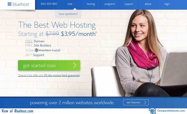 Bluehost for web hosting