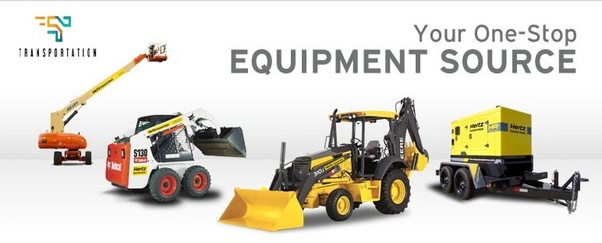What are the important points for renting heavy equipment in
