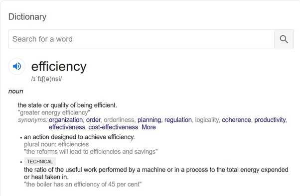 What Is Efficiency >> What Is The Difference Between Efficiency And Inefficiency Quora