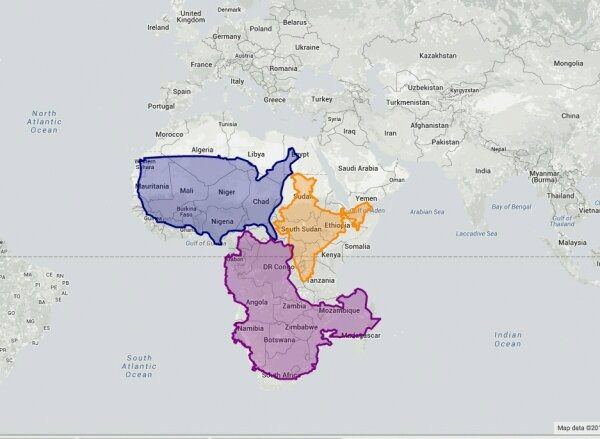 What are some interesting maps of the world maps depicting the true size of africa showing india usa and china fitting inside it gumiabroncs Image collections