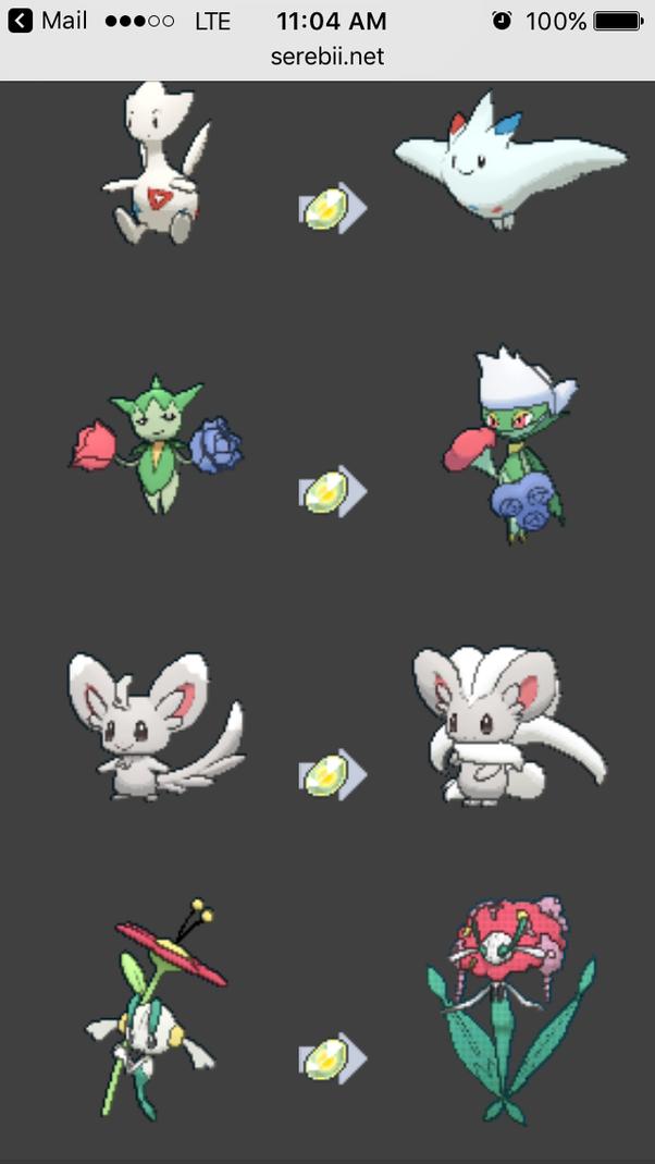 Which Pokemon evolve with Shiny Stones? - Quora